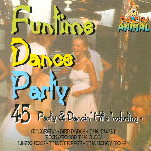 Funtime Dance Party Mix 2: That's What I Like / Hawaii 5-O / Let's Twist Again / Let's Dance / Wipe Out / Great Balls Of Fire / Johnny B. Good / Good Golly Miss Molly / The Twist / Summertime Blues / Razzle Dazzle / Runaround Sue / Chantilly Lace